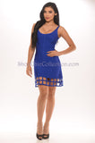 Briana Bandage Dress - Blue -bandage