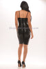 Aimee Bandage Dress - Black -Bandage
