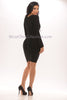 Mia Bandage Dress - Black -Bandage