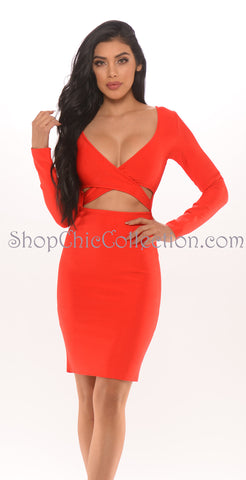 FIONA TWO PIECE BANDAGE DRESS