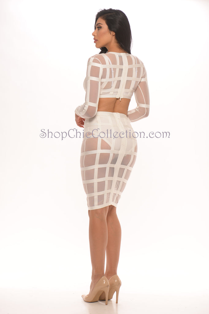 Toxic Two Piece Bandage Dress -Bandage