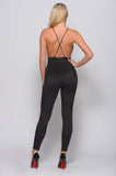 SHARON SO SMOOTH SUEDE JUMPSUIT