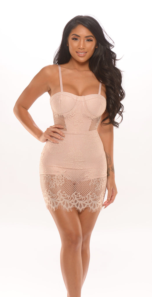 Angela Lace Bandage Dress -Bandage