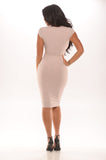 Button Me Up Bodycon Dress - Light Pink -dresses