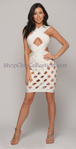 KARMEN BANDAGE DRESS