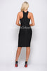 ZARA BANDAGE DRESS - BLACK