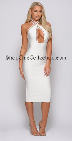 Grace Two Piece Bandage Dress - Black