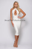 ZARA BANDAGE DRESS - WHITE