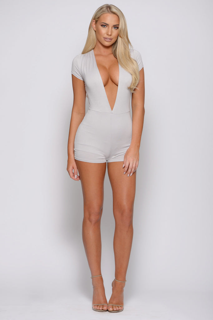 DEEP END PLUNGING ROMPER -rompers