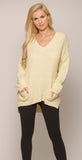 IVORY CUTOUT BACK SWEATER -sweater