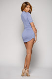 SWEET DREAMS CURVED HEM DRESS