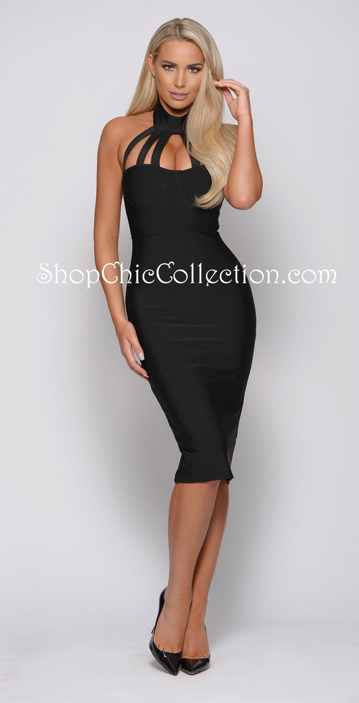 ELSHA BANDAGE DRESS -Bandage