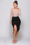 FOREVER MINE SUEDE WRAP SKIRT
