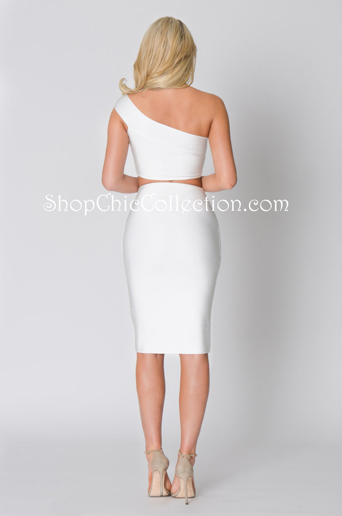 FIONA TWO PIECE BANDAGE DRESS -Bandage