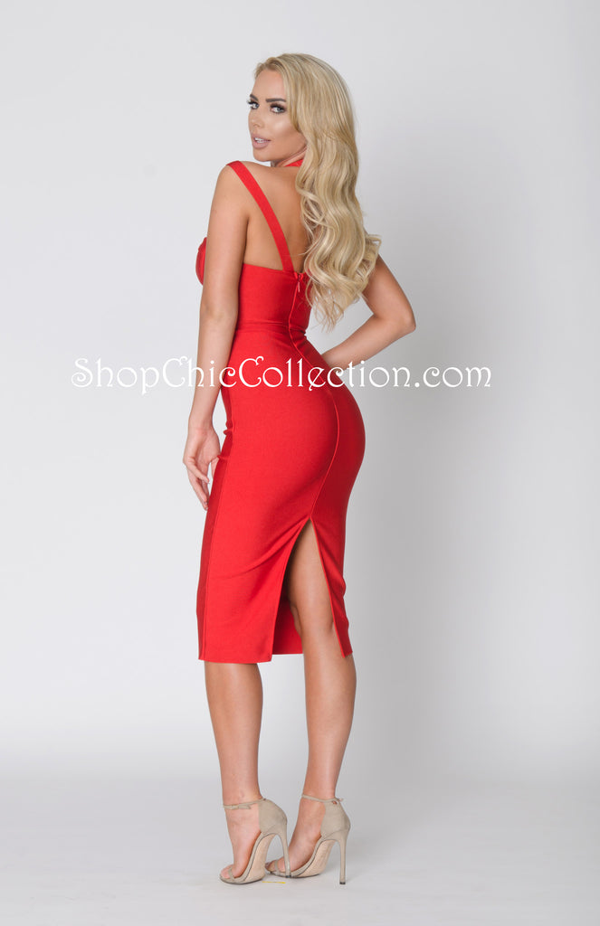 DEMI BANDAGE DRESS -Bandage