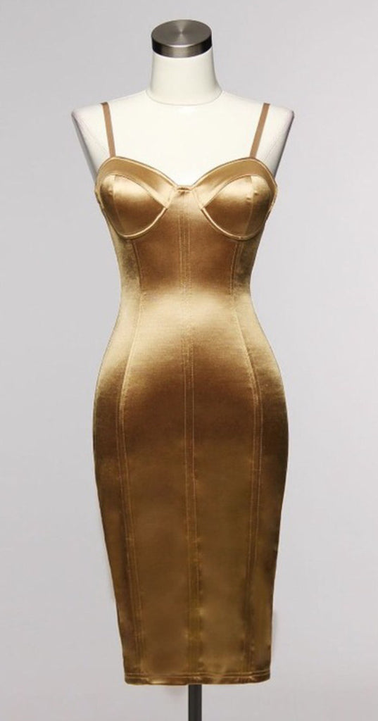 bustier in gold