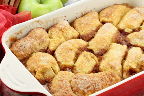 Apple dumplings made with Mountain Dew