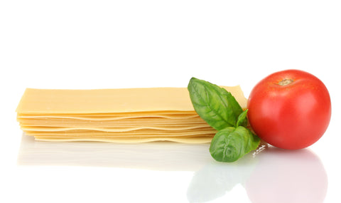 Ingredients for lasagna.