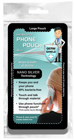 Antibacterial Germ Killing Nano Silver Phone Pouches