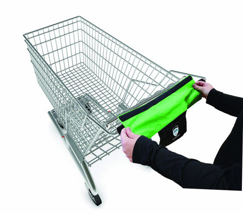 Antibacterial Germ Killing Nano Silver Shopping Cart Handle Cover With Storage Pocket