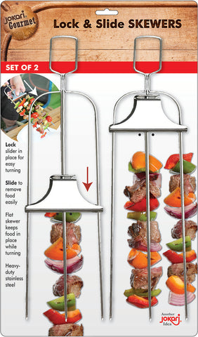 Lock & Slide Skewers (3 prong set of 2)