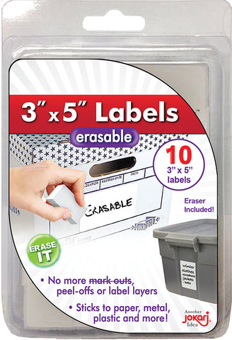 "Erasable 3"" x 5"" Labels Refills"