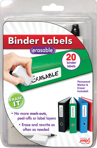 Erasable Binder Labels