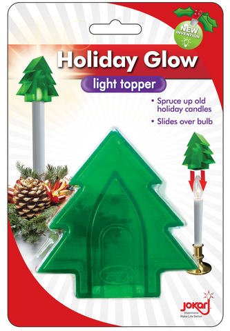 Holiday Glow Christmas Tree Candle Topper for Electric Window Display Candles