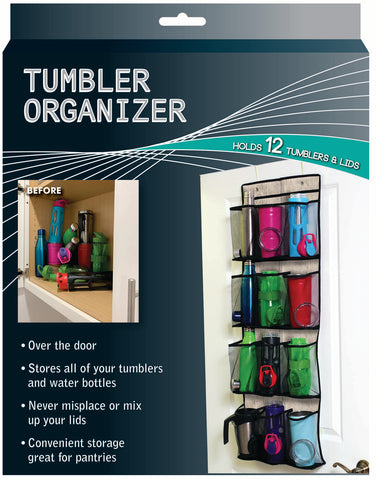 Over the Door Coffee Tumbler and Water Bottle Organizer