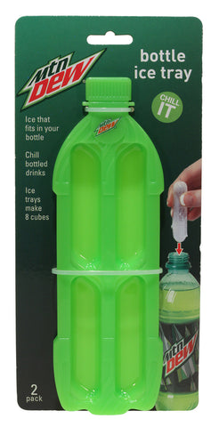 Bottle Ice Tray 2 pk - Mountain Dew