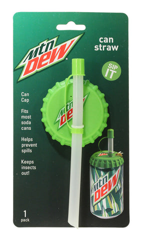 Can Straw 1 pk - Mountain Dew