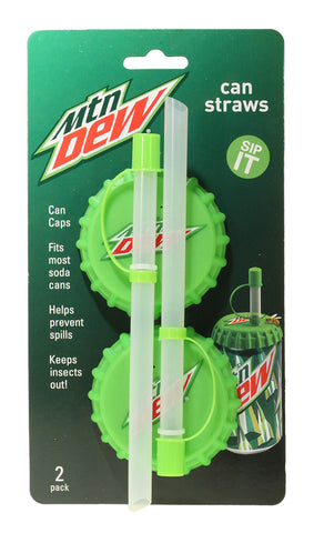 Can Straws (cans), 2 pk - Mountain Dew