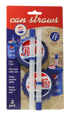 Can Straws (cans), 2 pk - Pepsi Heritage