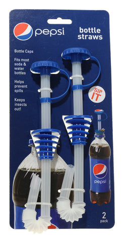 Bottle Straws 2 pk - Pepsi Modern