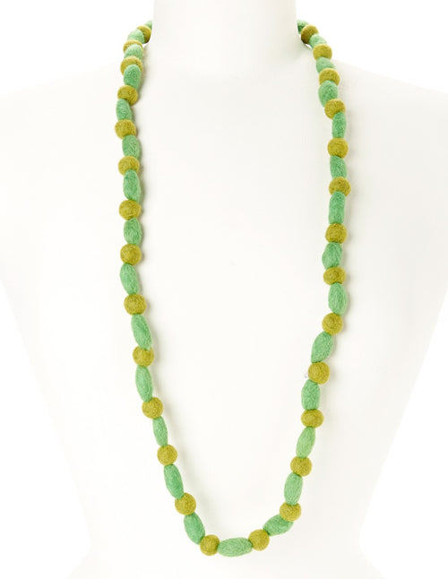 Shades of Green Felt Necklace
