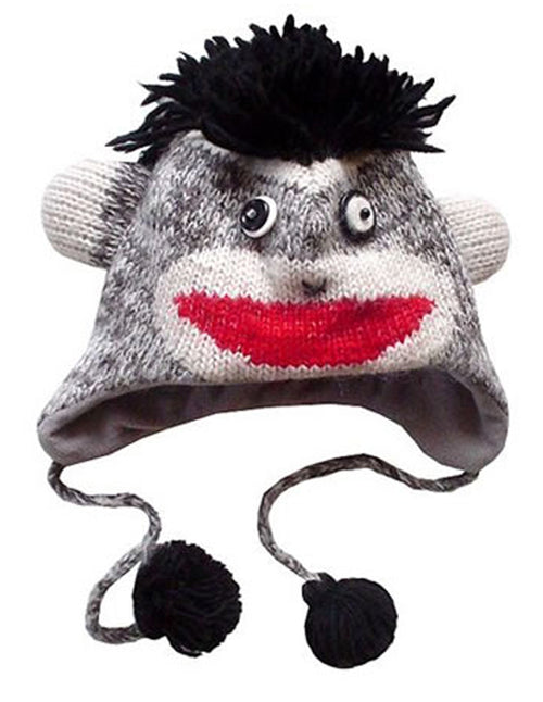 Sock Monkey Woolen Hat