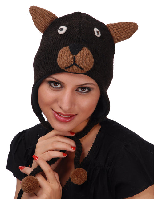 Bear Woolen Animal Hat