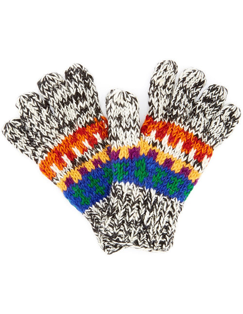 Wool Multi Color Gloves
