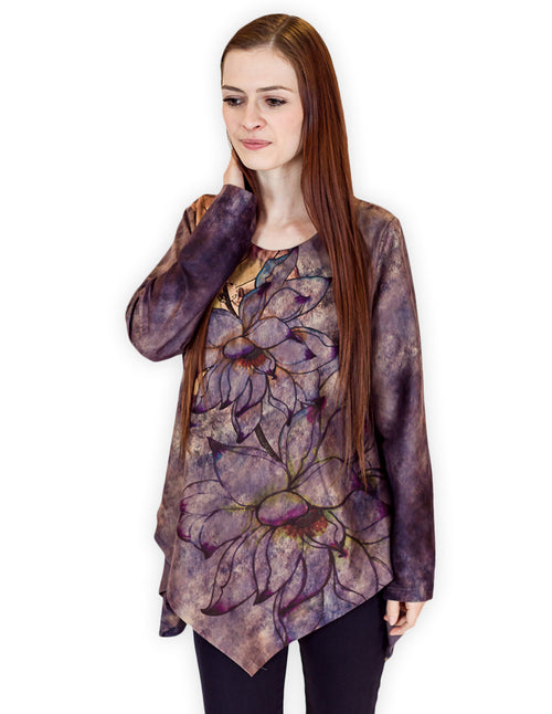 Flower Print Purple Tunic