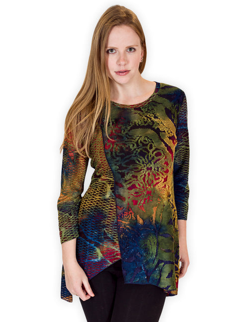 Palila Round Neck 3/4 Sleeve Top