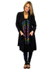 Black Tie Dye Long Cardigan with Pockets