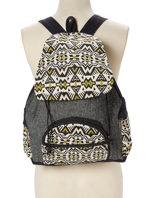 Aztec Pattern Woven Backpack