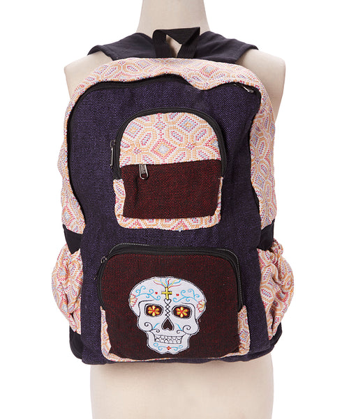 Candy Skull Applique Backpack