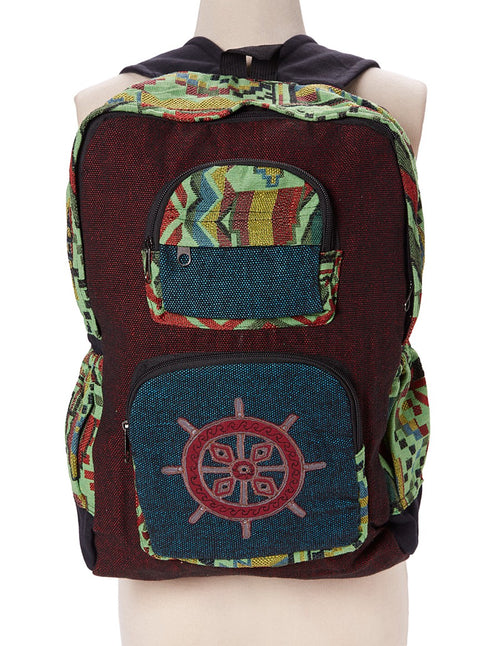 Mandala Applique Tribal Backpack
