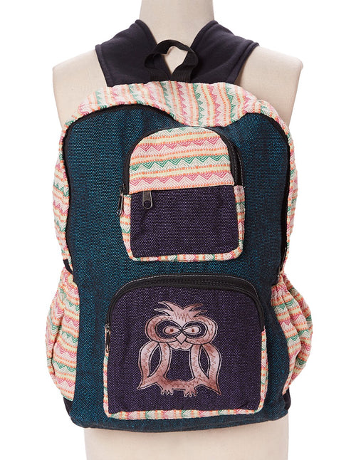 Owl Applique Tribal Backpack