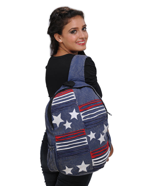 Blue Stars and Stripes Backpack