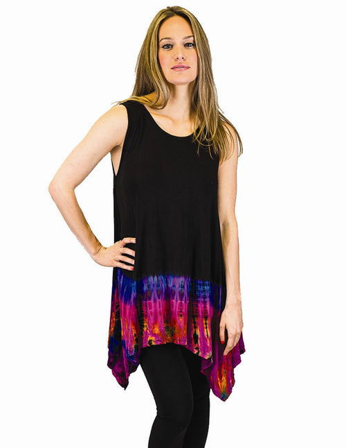 Tie-Dye Sharkbite Tunic Top