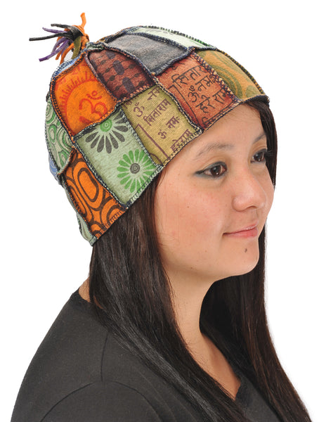 Patchwork Hat With Tassle