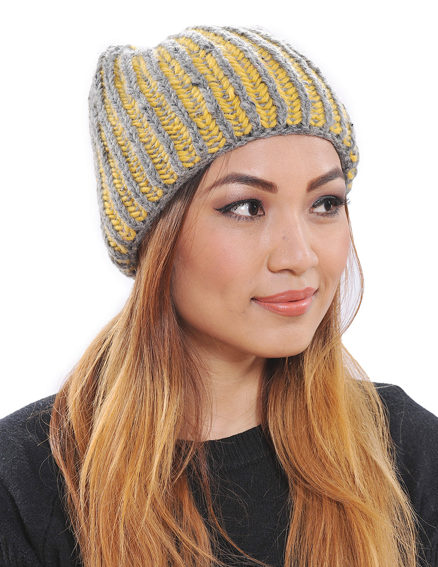 Wool Stripes Beanie