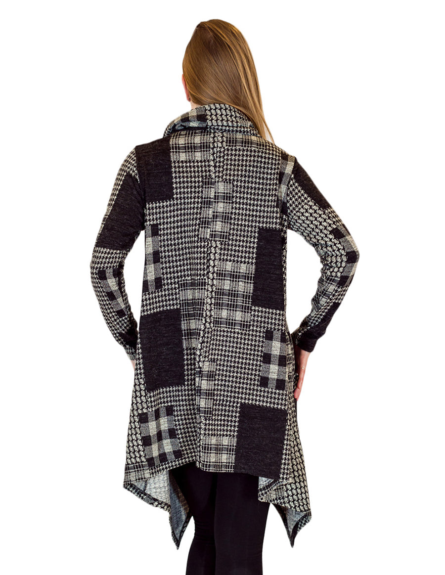 Palila Checkers & Plaid Cowl Neck Tunic